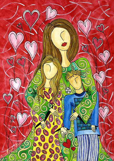Mother's Heart Garden ~ it never ends by Lisa Frances Judd~QuirkyHappyArt