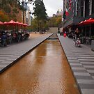 City Square looking towards Collins Street Melbourne Victoria Australia by Margaret Morgan (Watkins)