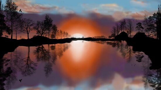 Sunset Silhouette by Rozalia Toth