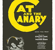 THE CAT AND THE CANARY (vintage illustration) by ART INSPIRED BY MUSIC