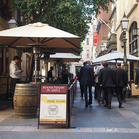Bank Place Melbourne Vic Australia - at Mitre Tavern by Margaret Morgan (Watkins)