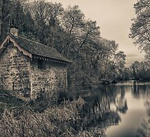 Boathouse at Woodchester by David Thomas