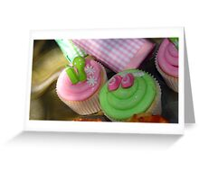 Cup cakes for new baby... Greeting Card