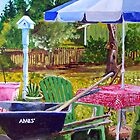 The Garden Table by Jim Phillips