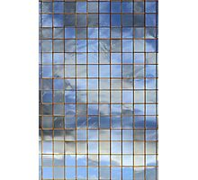 Blue & White In Windows Photographic Print