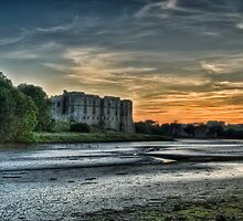 Carew Castle Sunset 2 by Steve Purnell