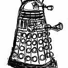 Dalek Sketch by BethanApple