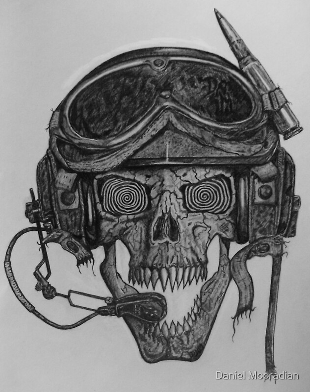 Military Skull With Guns - ma