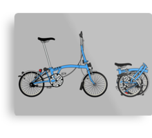Brompton Bicycle Metal Print