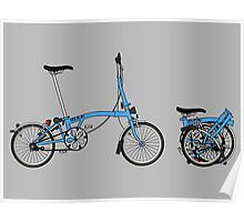 Brompton Bicycle Poster