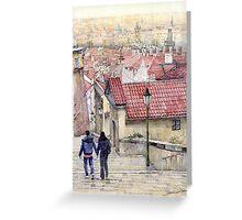 Prague Zamecky Schody Castle Steps Greeting Card