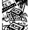 Retro Audio Tape (Black & White) by Geckoface