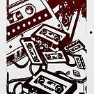 Retro Audio Tape (Wine/black) by Geckoface