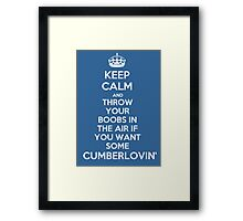Keep Calm and Throw Your Boobs In The Air If . . . Framed Print
