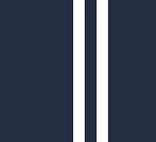 Elegant Dark Blue with White Racing Stripes by txjeepguy2