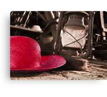 The Red Hat - Series 03 Canvas Print
