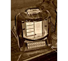 Antique Diner table top Jukebox Photographic Print
