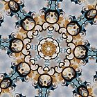 Baroque Blue yellow Rosette-R009 by Heidivaught