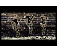 Fighting Graffiti Photographic Print