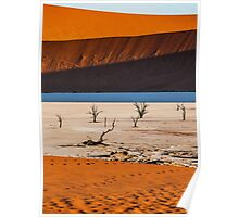 Light and Shadow at Deadvlei Poster