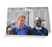 A close up of the london Marathon Winners Greeting Card