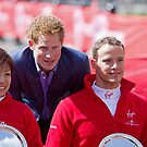 Marcel Hug with Wakako Tsuchida & Prince Harry by Keith Larby