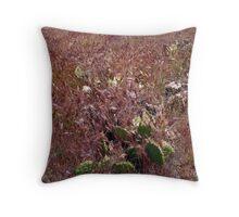 """Viola weeds & Cactus Emeralds"" by bradley blalock Throw Pillow"