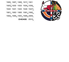 Chicago Pro Sports Championships Years by PlusSports