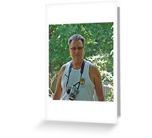 Rick & One of his Cameras Greeting Card