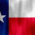 Texas Lonestar Flag in Digital Oil Paint by SJBroadmeadow