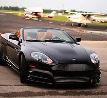 American Idol's (Simon)'s - Aston Martin DBS Cabriolet on Tarmac by Daniel  Oyvetsky