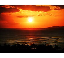 Sunset in Honolulu Photographic Print
