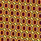 That 70&#x27;s Design - Brown Orange Maroon on Yellow Background by Bryan Freeman