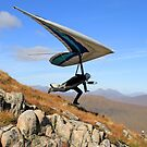 Hang Glider, Meall a&#x27; Bhiridh, Scotland by asm1