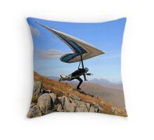 Hang Glider, Meall a' Bhùiridh, Scotland Throw Pillow