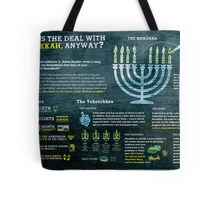 Hanukkah explained: A Jewish holiday infographic Tote Bag