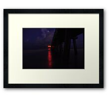 Naples Pier Before Dawn, As Is Framed Print