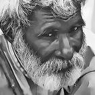 Old Man Digital Portrait by David Alexander Elder