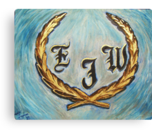 Cadillac Logo with Initials Canvas Print