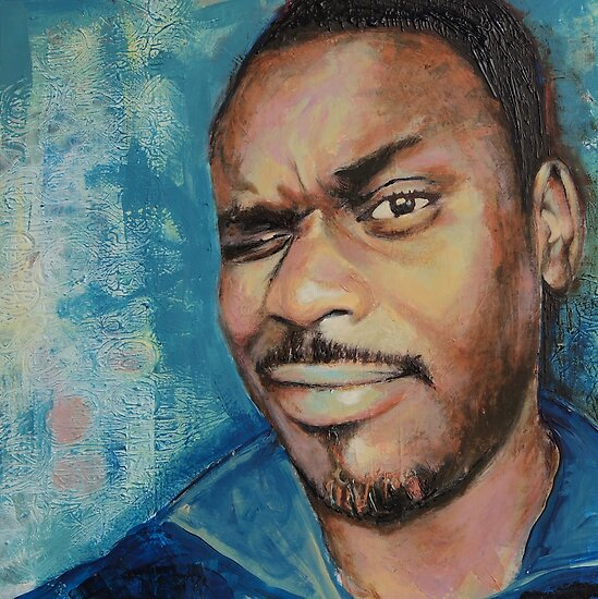 Self-Portrait - Artist In Focus Mode by Eddy Aigbe