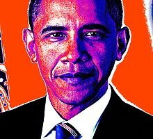 PRESIDENT BARACK OBAMA-COLOURS by OTIS PORRITT