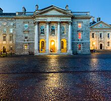 Trinity College Chapel By Night by Mark Tisdale