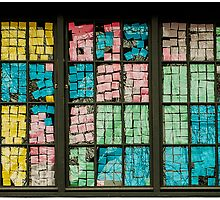 Window of Post-its by Syx Langemann