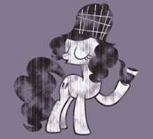 Pinkie Pie Detective Black & White Weathered by ZincSpoon