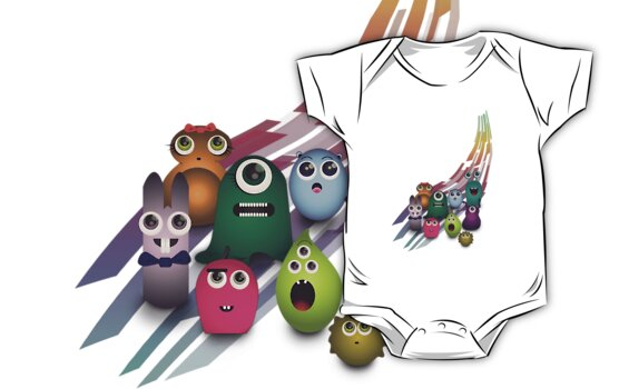 Cute Monsters by designholic