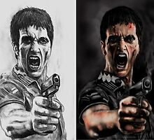 TONY MONTANA GRAPHITE & DIGITAL SIDE BY SIDE  by Ray Jackson
