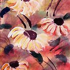 Wild flowers #2, almost tamed, watercolor by Anna  Lewis