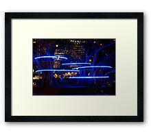 Blue Hoops Framed Print