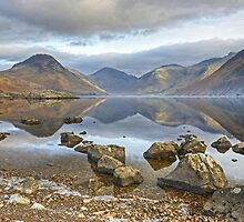 Wastwater..Rocks and Reflections by VoluntaryRanger