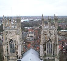York Minster Towers over the City by Potz